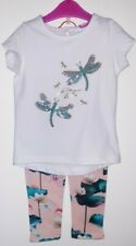 Ted Baker White/Blue/Gold/Pink Dragonfly + Flamingo Set Sz 18-24 Months