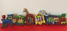 Burwood Products Circus Animal Trains Wallhangings Made In The USA Vintage