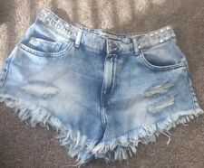 Zara Hi Waisted Shorts With Stud Detail Perfect Condition Sz6