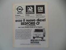 advertising Pubblicità 1976 BEDFORD CF DIESEL