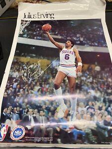 Julius Erving- Dr J Poster- VINTAGE Philadelphia  76's