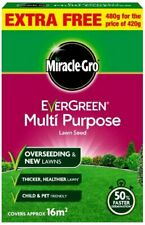 Miracle-Gro Evergreen Multi Purpose Fast Grass Lawn Seed 50% Faster Germination