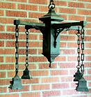 EXTREMELY RARE and FINE LIGHT FIXTURE!  Tudor-Style ARTS & CRAFTS, Solid Brass