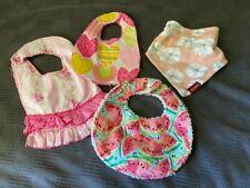 New listing Baby Girl Boutique Bib Lot 4 Milkbarn Caden Lane Sherpa Pink Watermelon Heart