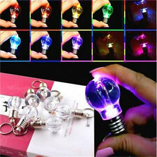 Colorful Automatic LED Key Chain Ring Light Bulb Lamp Keyring Chain 1pc♫