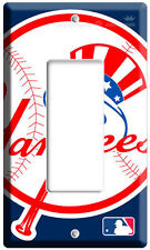 Baseball Mlb New York Yankees Single Gfi Light Switch Game Tv Room Decoration