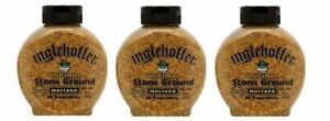 Inglehoffer Original Stone Ground Mustard 3 Bottle Pack