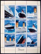 1999 MNH TAJIKISTAN TITANIC STAMPS SHEET CRUISE SHIP BOAT ICEBERG LIFEBOAT OCEAN