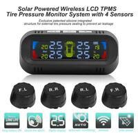 AN-10C Solar Auto TPMS LCD Reifendruckkontrollsystem mit 4 Externe Sensoren