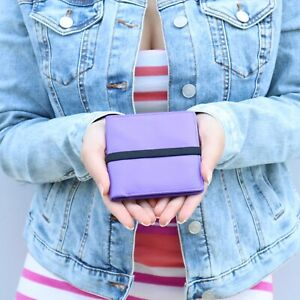 NEW Marc by Marc Jacobs Pebble Leather Wallet w Elastic Band Purple Black