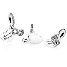 Genuine Silver Pandora Forever Friends Love Heart Pendant Charm 791948CZ