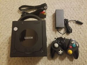 Nintendo GameCube Console Black DOL-001 W/ Controller And all cables