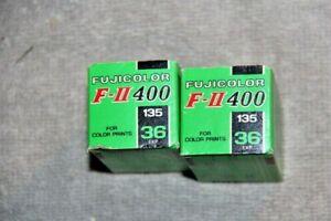 2 ROLLS OF FUJICOLOR F-11 400 SPEED 135-36 FILM