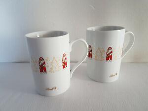 2 Stück Lindt Tasse Becher Weihnachtstasse gold Höhe 10,5cm RAR
