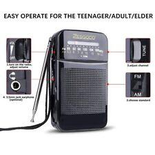 AM/FM Radio Mini Portable Telescopic Antenna Radio Pocket World Receiver Speaker