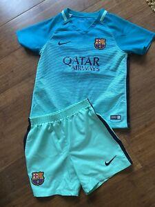 Barcelona Football Kit, Nike, Age 5-6, Neymar Shirt, VGC