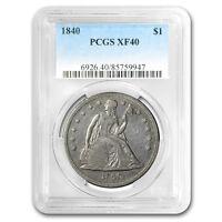 1840 Liberty Seated Dollar XF-40 PCGS - SKU#157824