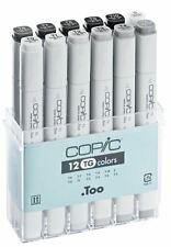 COPIC CLASSIC MARKER PENS - 12 TONER GREY COLOUR SET - GRAPHIC ART MARKERS