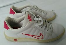 Nike court tradition baskets uk 7 vintage vtg utilisé rose blanc