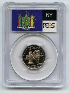 2001 S 25C Clad New York Quarter PCGS PR70DCAM