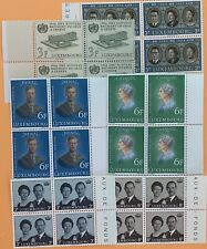 Luxembourg 6 Blocks of 4 Stamps MNH