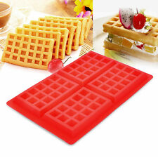 Large Belgian Waffle Muffins Mold Cake Silicone mold Tray Pan Soap 4 Cavity tool