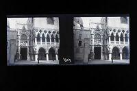 Venice Venezia Italia Italia Stereo piastra negativa 45x107mm Vintage