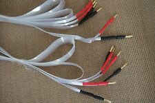 90% Silver Tube Amplifier Audio CD Player Speaker Banana Bi-Wire Flat Cable 6.6F