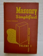 Masonry Simplified Vol I Dalzell Townsend Tools Materials Practice Vintage ATS