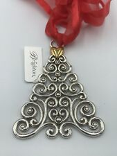 BRIGHTON NWT NOELLE TREE  Holiday Christmas Ornament Silver Gold Heart