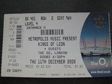 KINGS OF LEON  O2 LONDON  11/12/2008 TICKET
