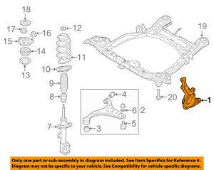 KIA OEM 11-13 Sorento Front-Steering Knuckle Spindle 517151U000