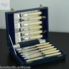 Vintage silver plated set of six forks & knifes Sheffield EPNS Boxed