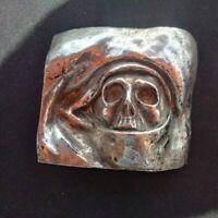 Unique Vanité dans un oeil Abel Ogier sculpture bronze signé crâne memento mori