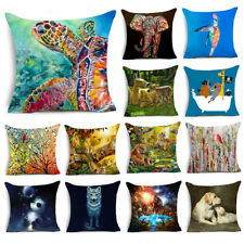 Colorful Animals Printing Polyester Sofa Pillow Case Cushion Cover Pillowcases