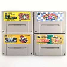 MARIO KART WORLD & Kirby Bowl HOSHI NO KIRBY SUPER DELUXE SET 4 SNES SFC 722-20