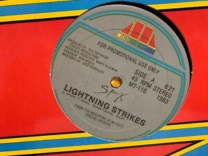"SFX Lightning Strikes 12"" 1983 MEGATONE MT116 Promo ELECTRONIC Hi NRG DISCO"