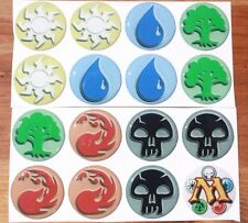 MAGIC THE GATHERING Epoxy Stickers 1 inch round for Bottle Cap & Craft Projects