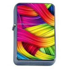 Groovy Rainbow Em5 Flip Top Oil Lighter Wind Resistant With Case