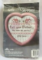 "1986 Counted Cross Stitch Embroidery Kit ""Call Your Mother!"" Picture 3264F"