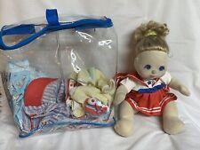 VTG Mattel 1985 My Child Doll Blonde Hair Blue Eyes With Clothing