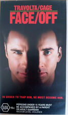 FACE/OFF - TRAVOLTA/CAGE 1995 VHS MOVIE VIDEO TAPE IN CASE