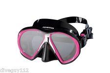 Atomic SubFrame Dive Mask for FreeDiving Scuba Snorkeling Black/Pink