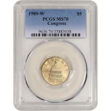 1989-W US Gold $5 Congressional Commemorative BU - PCGS MS70