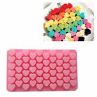 Silicone 55 Hearts Cake Chocolate Cookies Mould Ice Cube Soap Baking Mold Tray