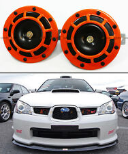 ORANGE ELECTRIC GRILL MOUNT COMPACT SUPER BLAST TONE LOUD HORN FOR MITSUBISHI