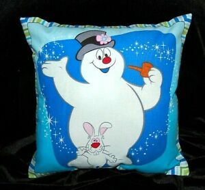 NEW HANDMADE FROSTY THE SNOWMAN / HOCUS POCUS  HOLIDAY CHRISTMAS PILLOW -