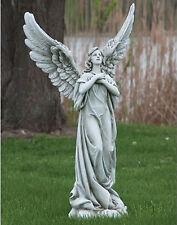 "37.25""H Standing Praying Angel Outdoor Garden Statue Joseph's Studio # 11119"
