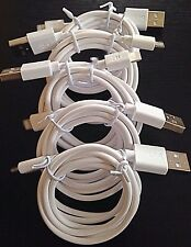 5x 4ft BLK FAST Usb Data Charging Lead Cable For IP 6 7 8 Plus IP X 5S 5C Pods
