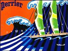 Sailing 1960 Perrier Sailboat Vintage Poster Print Retro Style Art Wall Decor